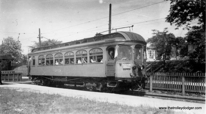 Another view of CERA club car 300 on an early fantrip on the Shore Line route.