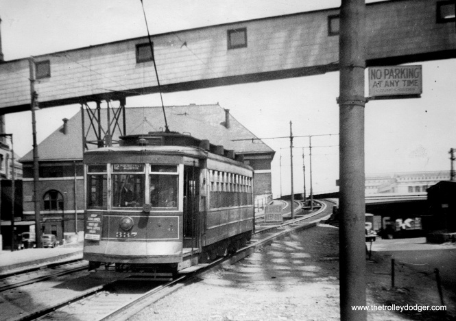 "In 1933, the Roosevelt Road streetcar was extended over the Illinois Central right-of-way in order to reach the ""A Century of Progress"" World's Fair and what we now call the Museum Campus."