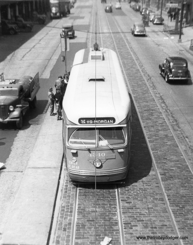 CTA 4340 southbound on State Street in 1947.