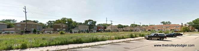 This 2011 view of the then-empty half block at Harrison and Bellwood, looking much as it had 60 years earlier.