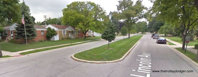The corner of Lincoln and Blanchan in Brookfield as it looks today. This is the approximate location of image 466.