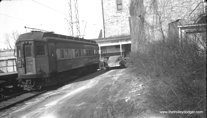 CA&E 418 in Batavia on March 15, 1952.