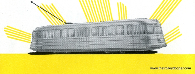 An artist's rendering of CSL experimental pre-PCC streetcar 4001, built by Pullman. It entered service in 1934 and was retired in 1944. Its body shell is preserved at the Illinois Railway Museum.