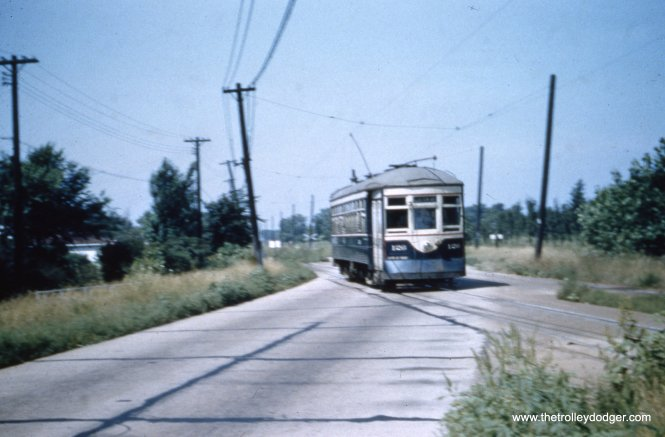 Car 126 at an unidentified location.