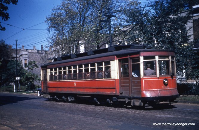 Red Pullman 322 at an unidentified location.