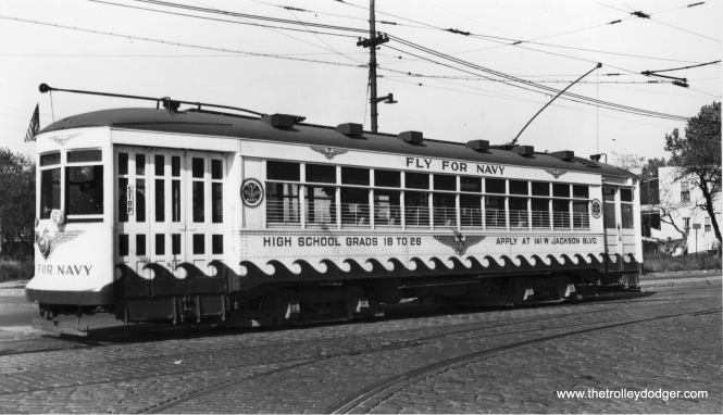 CSL 1775 at Archer and Rockwell on October 25, 1942. (Joe L. Diaz Photo)