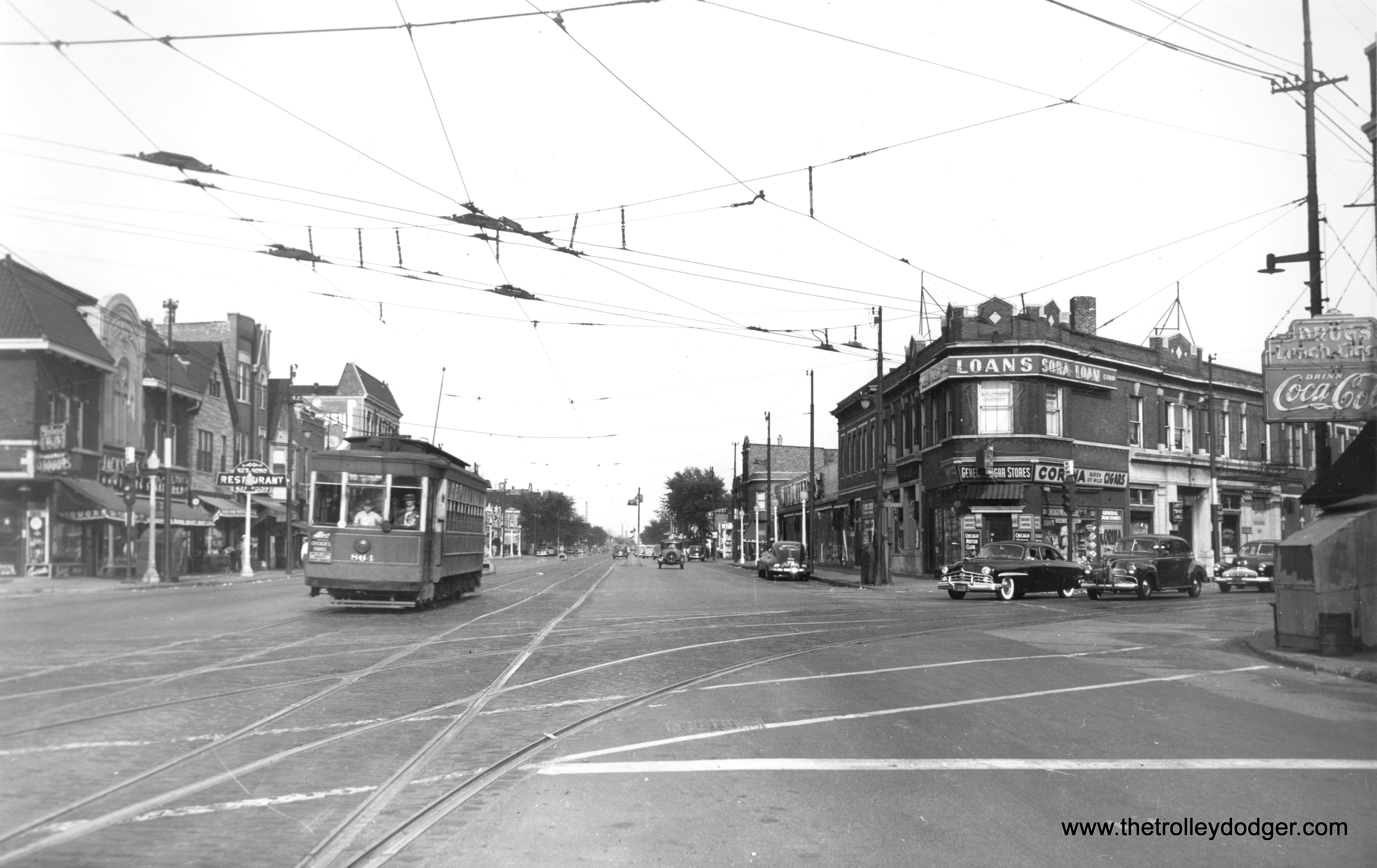 Chicago streetcars in black and white part 4 the for Irving hotel chicago