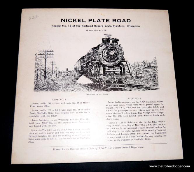 Railroad Record Club disc #13.
