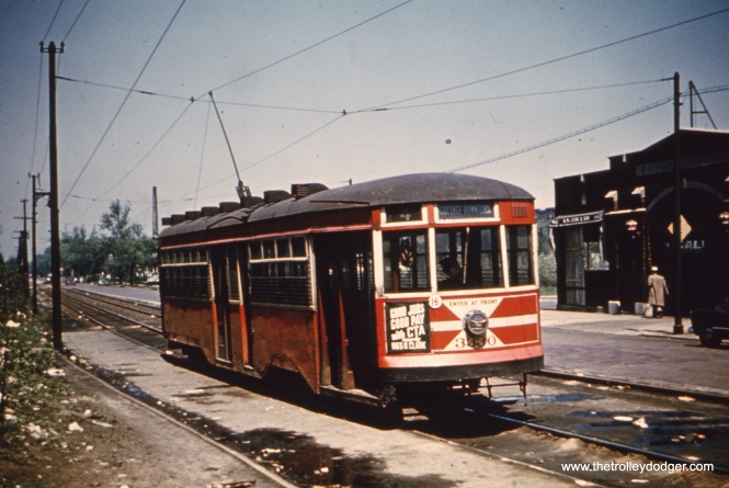 CTA Peter Witt 3330 on route 4. These cars were shifted to Cottage Grove from Clark-Wentworth in 1947 after postwar PCCs took over that line.