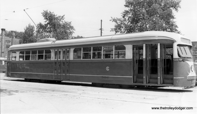 CSL 7011 at Madison and Austin on July 16, 1938. (M. D. McCarter Collection)