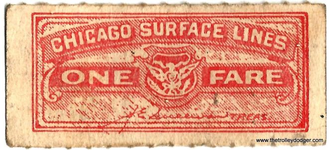 Not sure when this Chicago Surface Lines ticket dates from, but CSL only existed from 1914-1947 so that does narrow it down a bit.