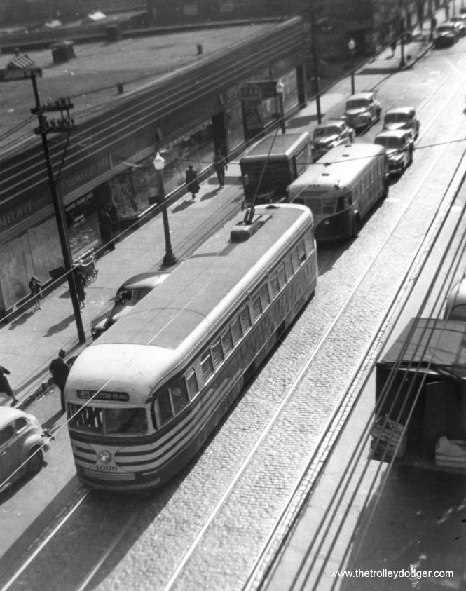 CSL 4008 eastbound on 63rd Street in 1947.