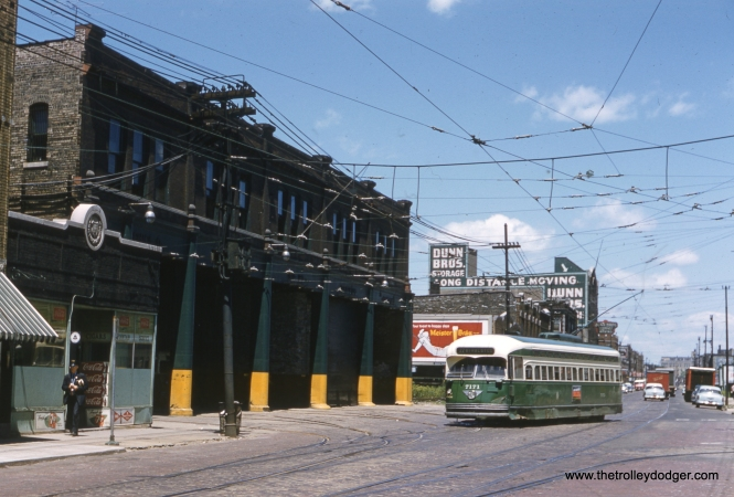 CTA 7171 passes the Devon Station (car house) on its way to 81st and Halsted. This picture was taken circa 1955-57.