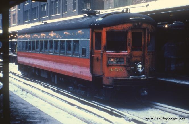 #51 - JN: Wells St. terminal. EM: CAE 456 (St. Louis, 1945).