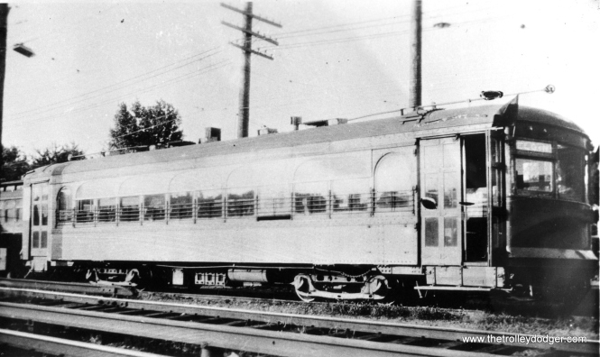"#5 - Aurora, Elgin & Fox River Electric 301 in 1929. According to Don's Rail Photos, ""301 was built by St Louis Car in 1924, (order) #1308. In 1936 it was sold to CI/SHRT as 301 and to Speedrail in May 1950. It was scrapped in 1952."""