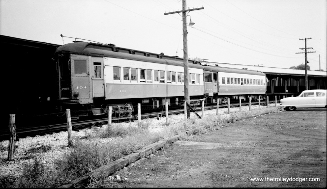 #21 - CA&E 404 and 453 at Forest Park sometime between 1953 and 1957.