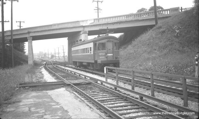 #22 - CA&E 460 at Lakewood in 1954.