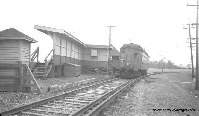 #24 -CA&E 417 at Batavia Junction.
