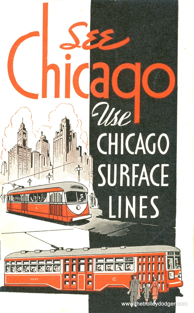 This 1935 CSL brochure shows experimental pre-PCC car 7001 painted mainly in red, which it never was.