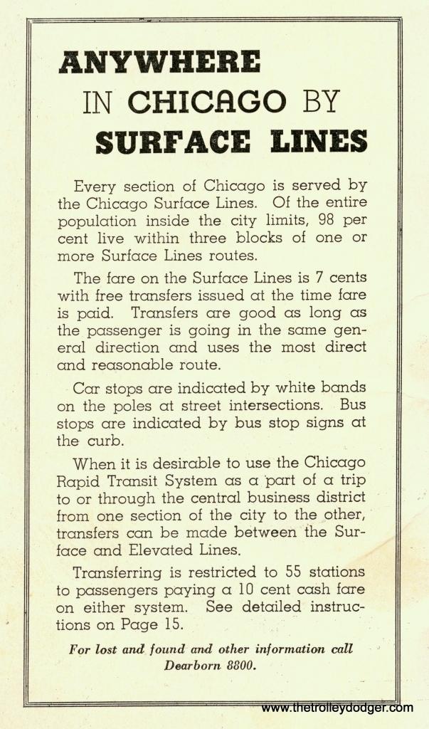 "When this was published in 1935, free transfers between Chicago's streetcars and the ""L"" were a new thing."