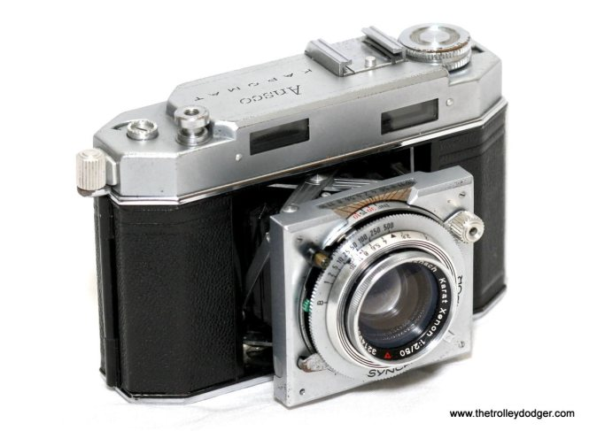 Truman Hefner took many great pictures with a German Karomat camera similar to this one, which has a high-quality Schneider lens.