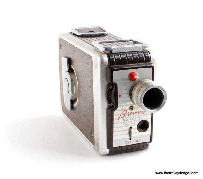 A Kodak Brownie 8mm movie camera.