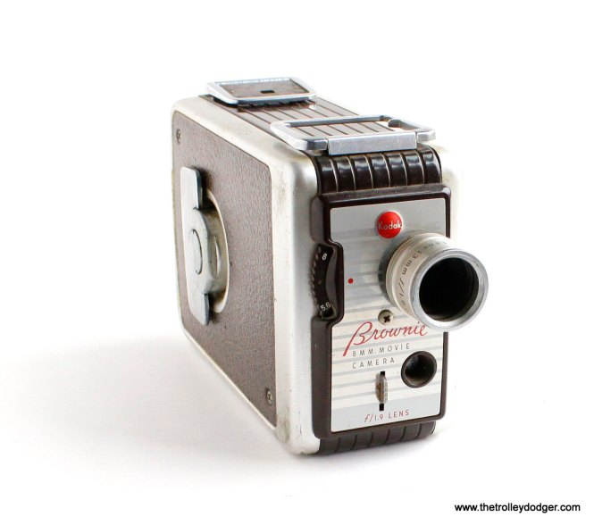 A Kodak Brownie 8mm movie camera.