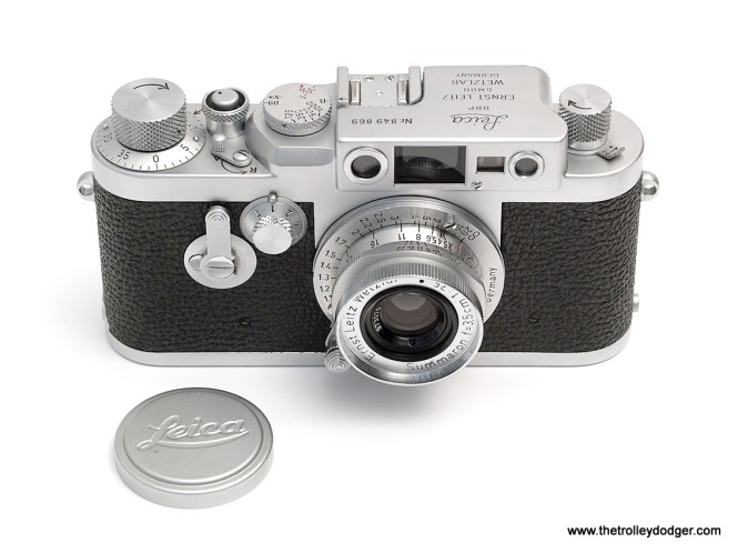 The late Bill Hoffman's last camera was a late 1950s screw-mount Leica IIIg similar to this one. After his passing in the late 1980s, I received his Leica as a gift.