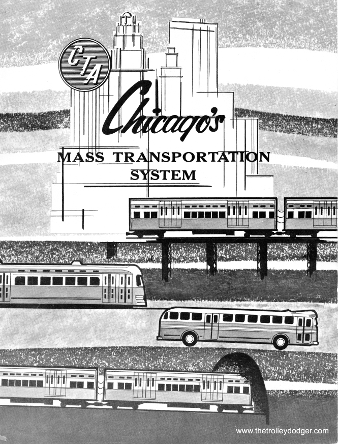 The cover of the 1957 version of Chicago's Mass Transportation System, which is included as a Bonus Feature of our E-book.