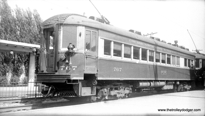 CNS&M 767 at Highwood on the Shore Line Route on April 29, 1940.