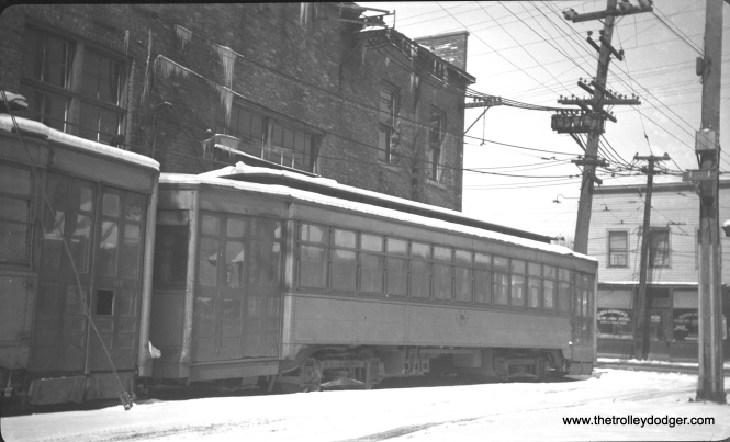 Chicago and Calumet District Transit Company #70 at Hammond in February 1939.