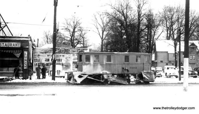 Sweeper 0103 on Sloane Avenue in 1941.