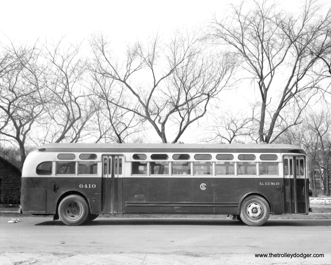 CSL 6410, a General Motors gas bus from the 6401-6410 series, on March 5, 1944.