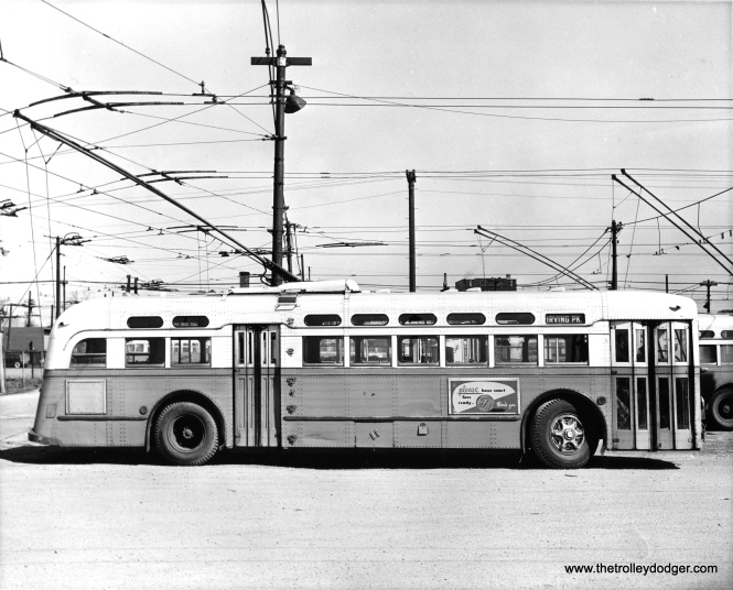 A CTA trolley bus used on route 80 - Irving Park.
