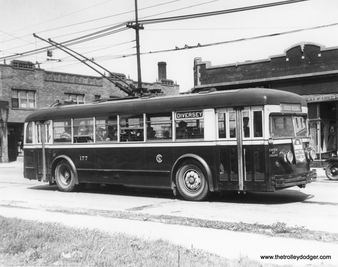 CSL 177, signed for route 76 - Diversey. (CSL Photo, Krambles-Peterson Archive)