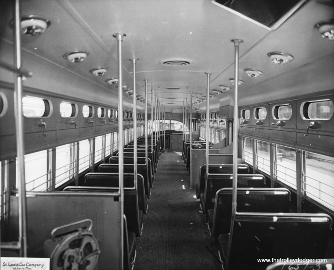 A St. Louis Car Company photo of 7062's interior.
