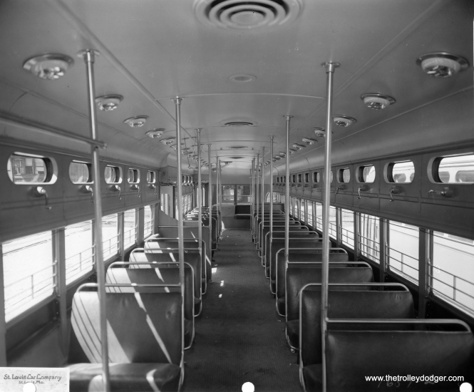 Another St. Louis Car Company photo of a 7062's interior.