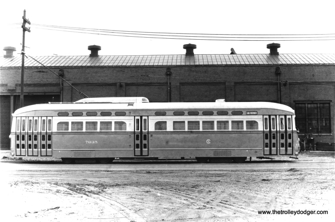 CSL 7035 at South Shops in 1947. (CSL Photo, Krambles-Peterson Archive)