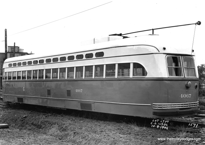 4067 on October 8, 1946 at the Pullman plant. It was delivered to CSL on the 24th.
