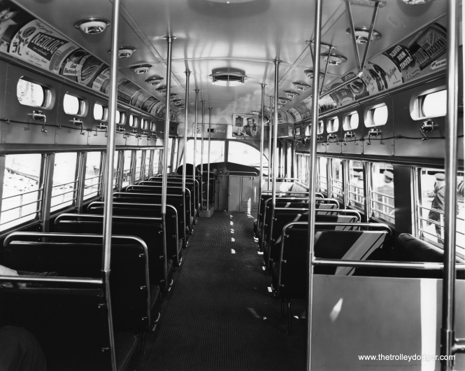 A CSL photo showing the interior of 4062 as new.