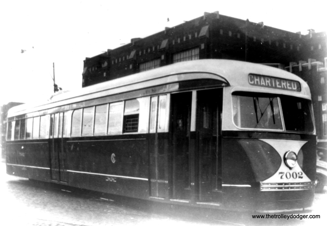 Prewar car 7002, as new, at South Shops. (Edward Frank, Jr. Photo)
