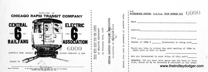 A sample ticket for CERA fantrip #6.