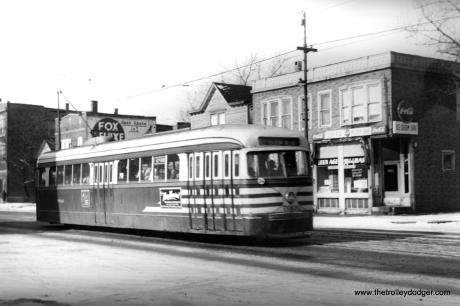 CTA 7006 at 63rd and Wolcott on January 4, 1951.