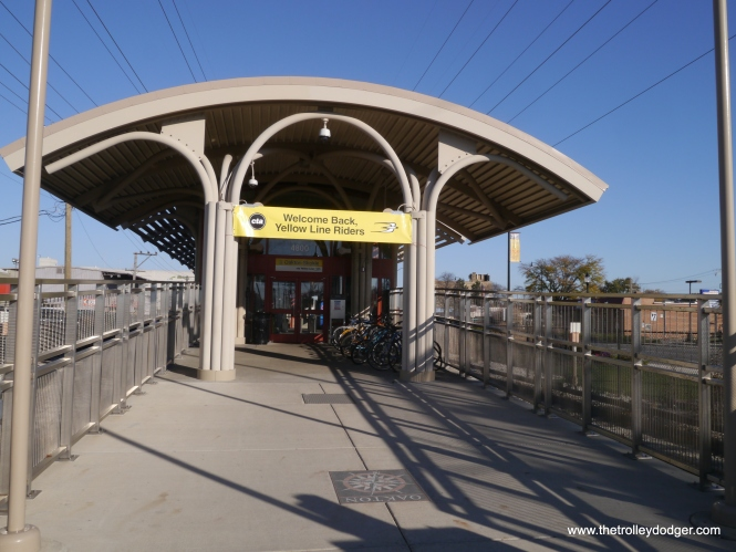 Oakton station is open for business again.