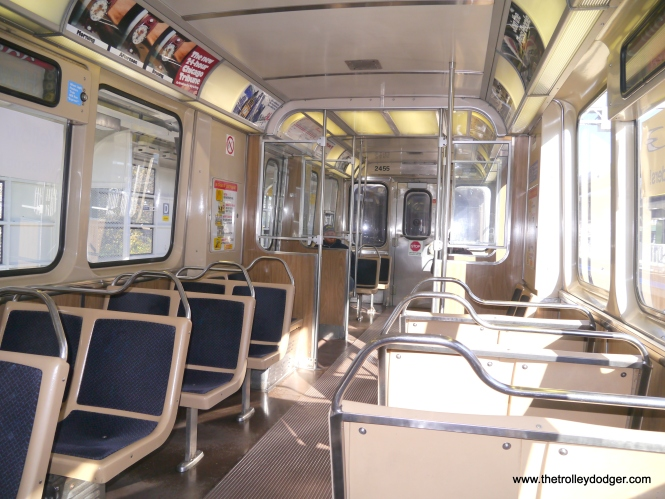 2400s interior. This class of cars has been retired from service now.