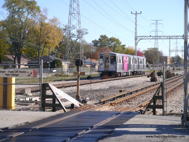 A northbound train at Kostner.