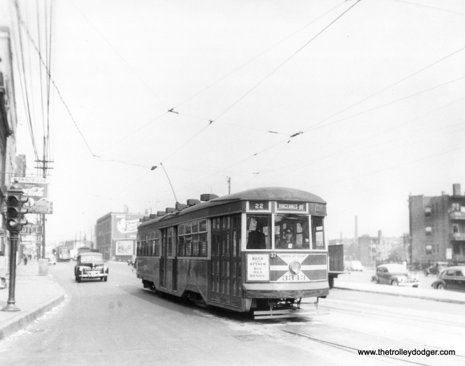 CSL 3343 at Clark and Devon. (Krambles-Peterson Archive)