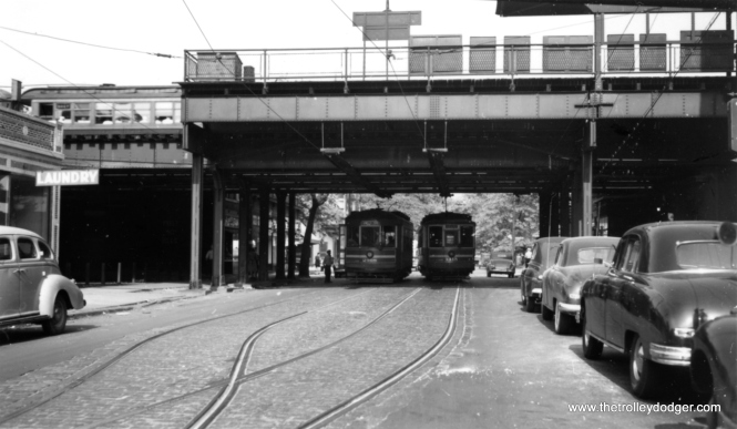 "According to George Trapp, this is the Webster ""L"" station, where there was a passing siding, near the midpoint of the Webster-Racine streetcar line. (Joe L. Diaz Photo)"