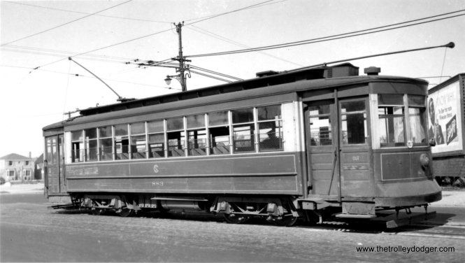 "CSL ""Little"" Pullman 810, built in 1910, on route 10. George Trapp: ""CSL 810 is at Western-Howard."""