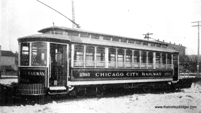 Is Chicago City Railway 2503 the same car as CSL 2503? Andre Kristopans says yes. (See the Comments section of this post.)